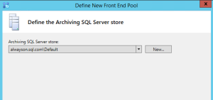 Skype SQL archiving