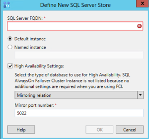 Skype SQL option mirror