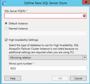 Skype SQL option mirror
